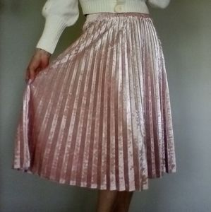 A New Day Accordion Pleat Crushed Velvet Skirt